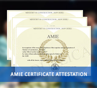 AMIE Certificate Attestation