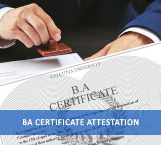 B A Degree Certificate Attestation India - Urogulf