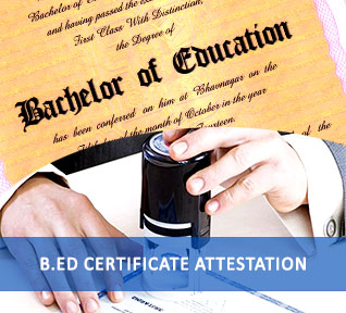 bachelor education certificate attestation