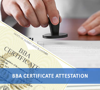 bba certificate attestation