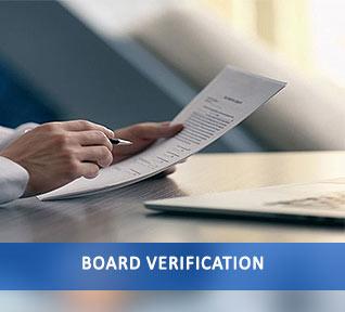 board verification