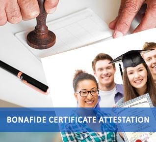 bonafide certificate attestation