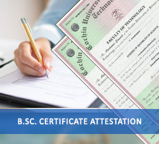 bsc certificate attestation