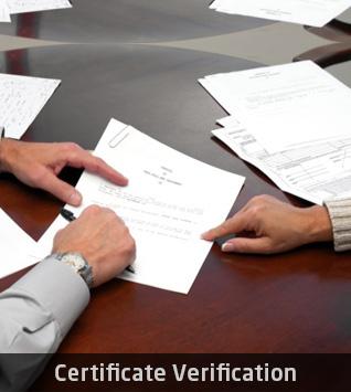 certificate verification
