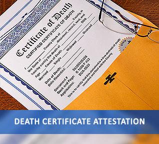 death certificate attestation