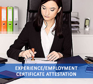 experience/employment certificate attestation