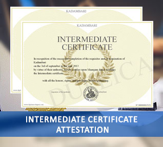 intermediate certificate attestation