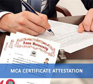 mca certificate attestation