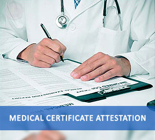 medical certificate attestation