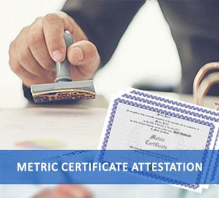 metric certificate attestation