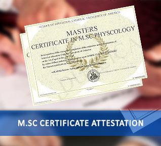 msc certificate attestation