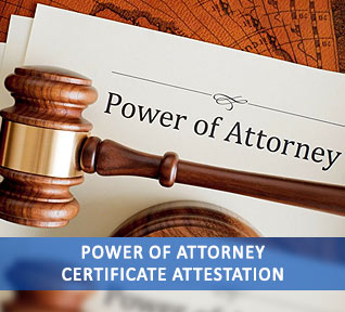 power of attorney certificate attestation