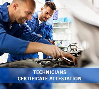 technicians certificate attestation