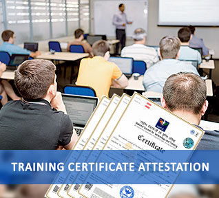 training certificate attestation