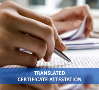 translated certificate attestation