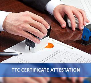 ttc certificate attestation
